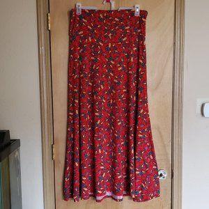 Lularoe Size XL Long Skirt Thick Waistband Floral